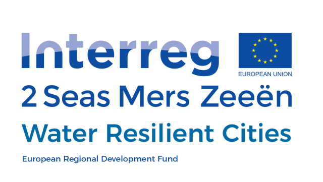 Logo Interreg 2 Zeeën project Water Resilient Cities